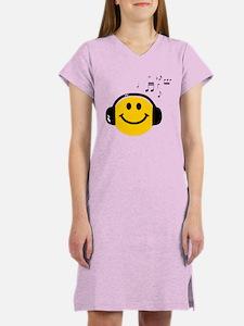 Music Loving Smiley Women's Nightshirt
