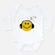 Music Loving Smiley Long Sleeve Infant Bodysuit