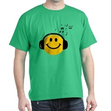 Music Loving Smiley T-Shirt