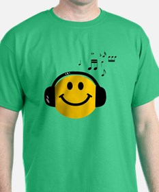 Music Loving Smiley T-Shirt