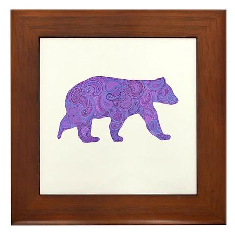 Peace Bear Framed Tile