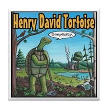 Henry David Tortoise Tile Coaster