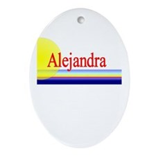Alejandra Oval Ornament