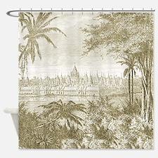 Bayon Khmer Temple Angkor Shower Curtain