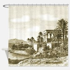 Temple of Isis Nile Egypt Shower Curtain