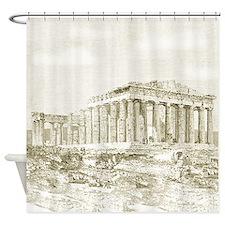 Parthenon Acropolis Athens Shower Curtain