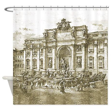 Trevi Fountain Rome Shower Curtain