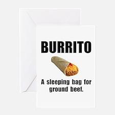Burrito Sleeping Bag Greeting Card