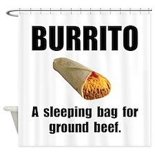 Burrito Sleeping Bag Shower Curtain
