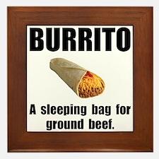 Burrito Sleeping Bag Framed Tile
