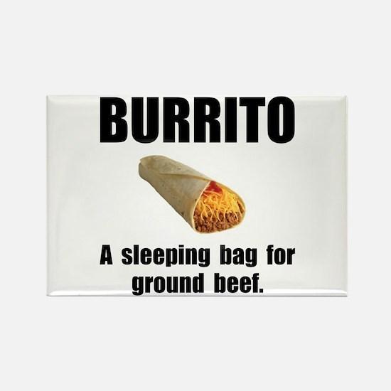 Burrito Sleeping Bag Rectangle Magnet (10 pack)