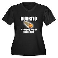 Burrito Sleeping Bag Women's Plus Size V-Neck Dark