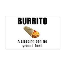 Burrito Sleeping Bag 22x14 Wall Peel