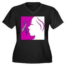 Domestic Violence 1 Women's Plus Size V-Neck Dark