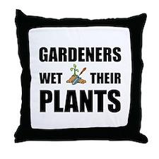 Gardeners Wet Plants Throw Pillow