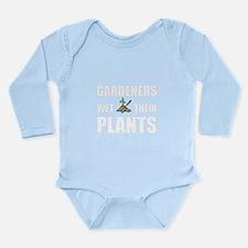 Gardeners Wet Plants Long Sleeve Infant Bodysuit