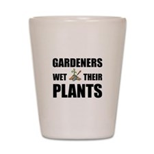 Gardeners Wet Plants Shot Glass