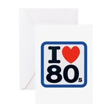 I Heart 80s Greeting Card
