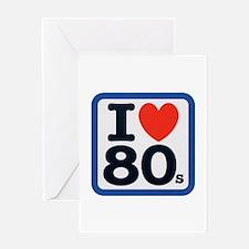 I Heart 80s Greeting Card