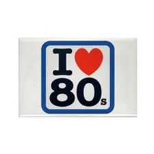 I Heart 80s Rectangle Magnet (10 pack)