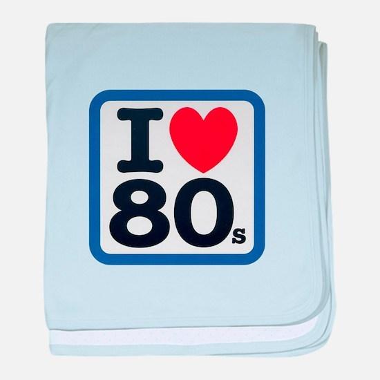 I Heart 80s baby blanket