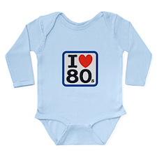 I Heart 80s Long Sleeve Infant Bodysuit