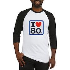 I Heart 80s Baseball Jersey
