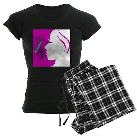 Domestic Violence 1 Women's Dark Pajamas