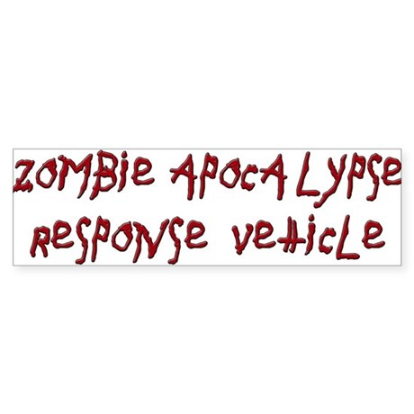 Zombie Apocalypse Sticker (Bumper)
