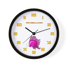 Pink Fiishii Wall Clock
