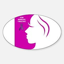 Domestic Violence 2 Sticker (Oval)