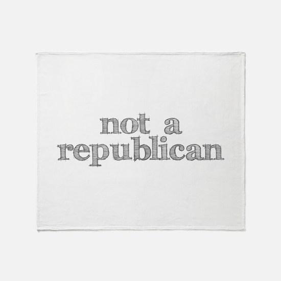 not a republican Throw Blanket