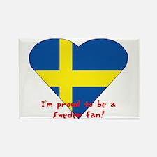 Sweden fan flag Rectangle Magnet