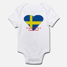 Sweden fan flag Infant Creeper