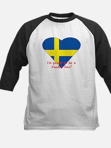 Sweden fan flag Kids Baseball Jersey