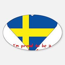 Sweden fan flag Oval Decal