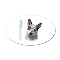 Australian Cattle Dog 22x14 Oval Wall Peel