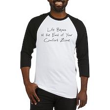 life begins - black Baseball Jersey