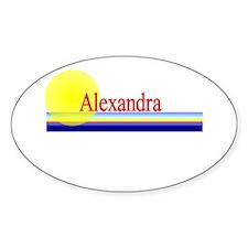 Alexandra Oval Decal