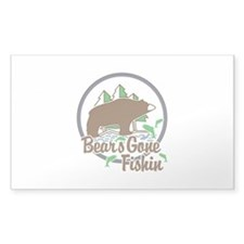 Bear's Gone Fishin' Decal