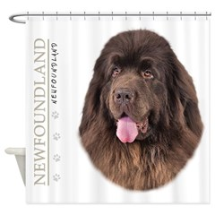 Brown Newfoundland Shower Curtain