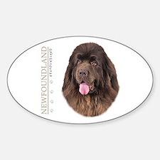 Brown Newfoundland Sticker (Oval)