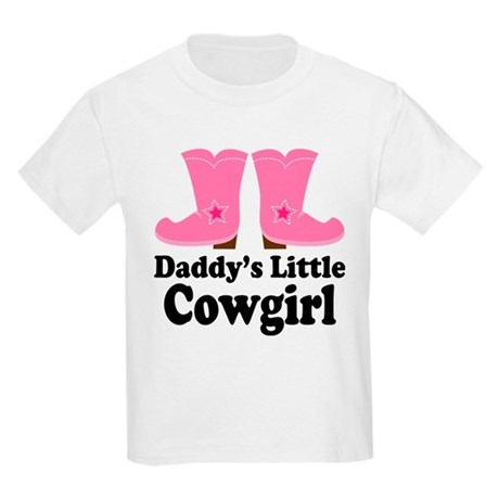Daddy's Cowgirl Gift Kids Light T-Shirt