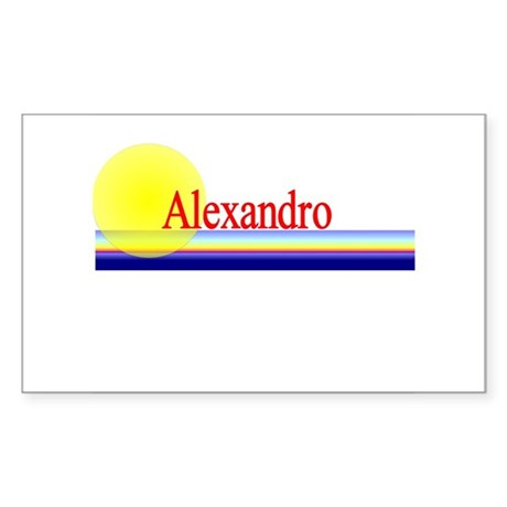 Alexandro Rectangle Sticker
