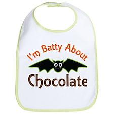 Halloween Chocolate Bat Bib