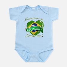 Brazil Flag Design Infant Bodysuit