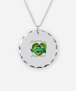 Brazil Flag Design Necklace