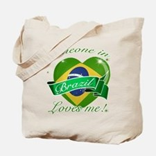 Brazil Flag Design Tote Bag
