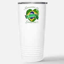 Brazil Flag Design Travel Mug