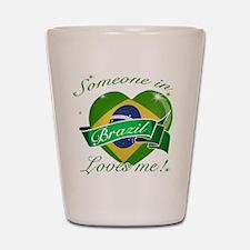 Brazil Flag Design Shot Glass
